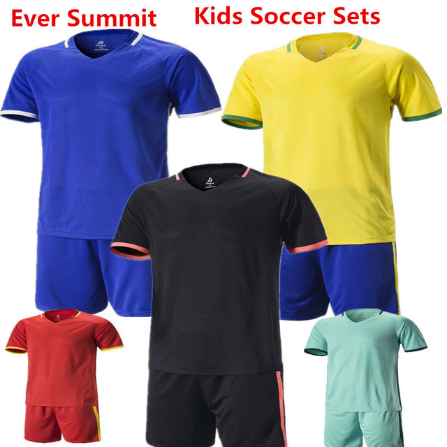 0148de773258 Kids Soccer Jerseys Ever Summit S1606 Boys Football Training Sets Customize  DIY Create Team Uniforms 100%polyester high quality