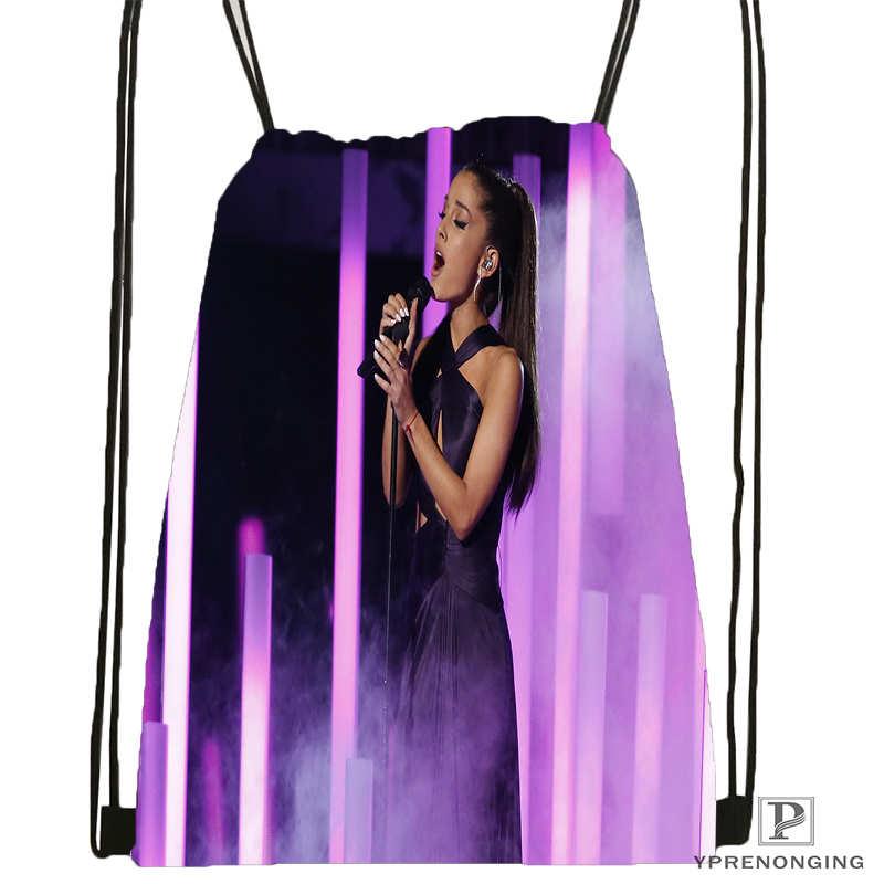 Custom Ariana-Grande Drawstring Backpack Bag For Man Woman Cute Daypack Kids Satchel (Black Back) 31x40cm#20180611-03-157