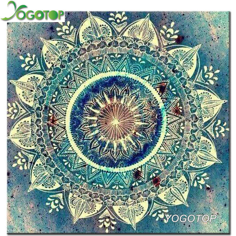 YOGOTOP 5D Diy Diamond Painting Cross Stitch Mandala Home Decor Full Rhinestones Mosaic Inlay Diamond Embroidery ZB419