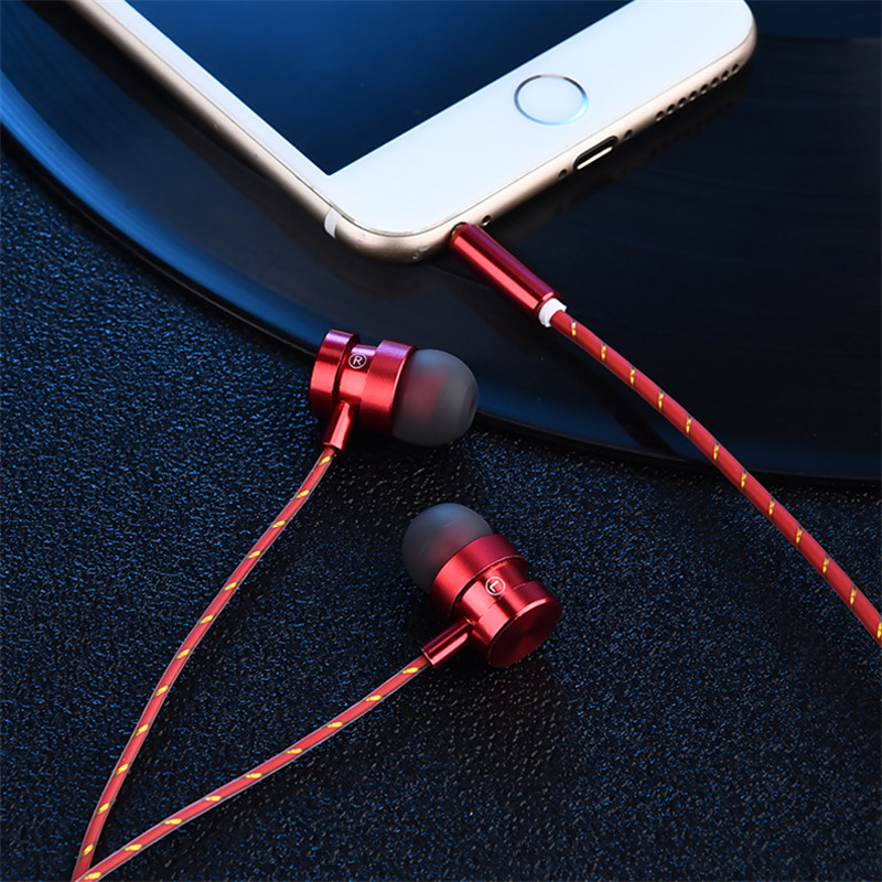 Moysdio Professional Metal Headphone In Ear Wired Earphone 3.5mm Heavy Bass Sound Quality Music Sport Headset For iPhone Xiaom