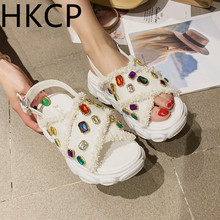 HKCP Fashion 2019 spring and summer new womens shoes cross tassel ethnic fashion hemp braided casual sandals women C255