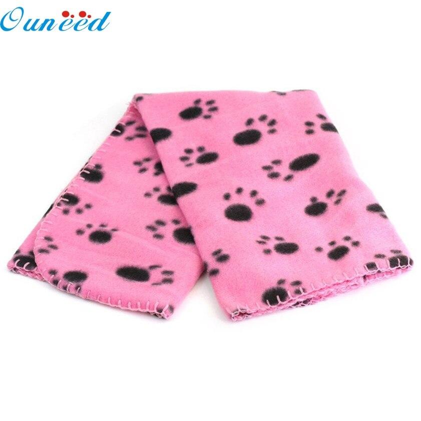 D3 Haute Coût-Efficace Belle Conception Pet Mat Paw Print Fleece Chaud Mou Pet Couverture Chat Tapis Chiot Lit canapé 12.18