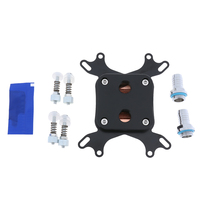 1pc CPU Water Cooling Block Waterblock Nickel Plated Copper Base Inner Channel For Intel 775 1150