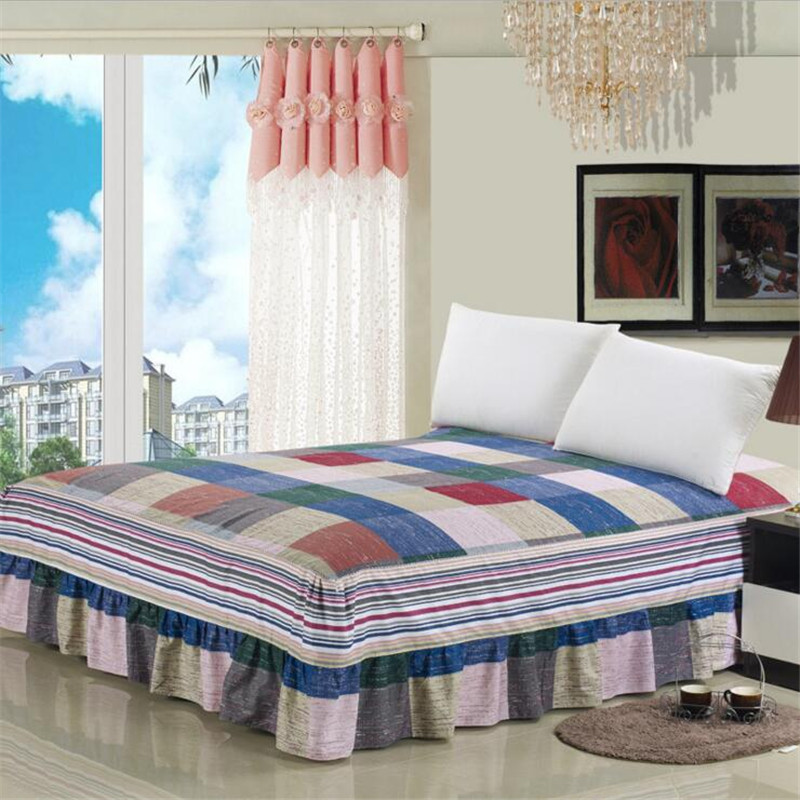 High Quality 2016 Fashion 1 Piece Bed Skirt King Queen Twin Size