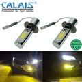 Calais LED COB chip de ORO AMARILLO Car-styling automotriz H7 H8 H11 H1 H3 9005 9006 880 881 brillante iluminación de la lámpara de luz de niebla DRL del bulbo