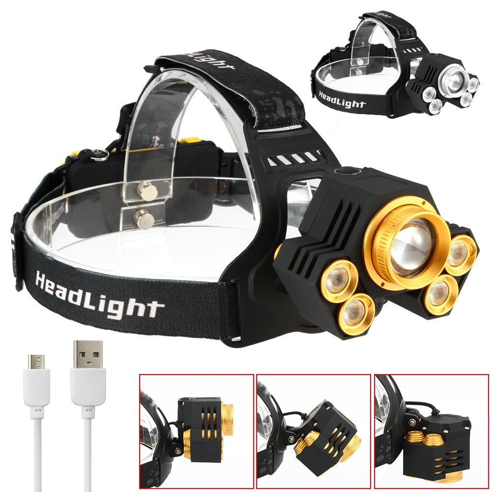 15000LM LED T6 Zoom Waterproof Headlamp Headlight USB Rechargeable cycling Head Lamp Flashlight Torch 18650 battery