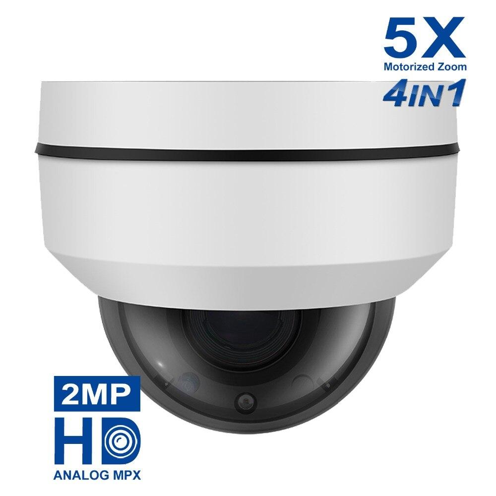 Anpviz 1080 p AHD PTZ Dôme Caméra Extérieure Mini 2MP 5X Optique Zoom IR 20 m 4 Dans 1 AHD CVI TVI Dip Commutateur CCTV Caméra Auto Iris