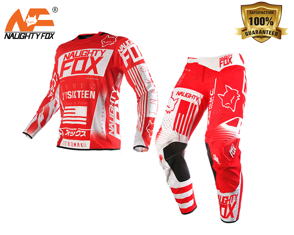 NAUGHTY FOX 360 Red Flight GP Pant / Jersey MX Motocross Sport OffRoad Atv RACING JERSEY брюки asics брюки jersey pant