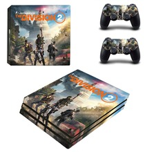 Tom Clancys The Division 2 PS4 Pro Skin Sticker For PlayStation 4 Console and 2 Controllers PS4 Pro Skin Stickers Decal Vinyl