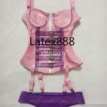 Латексная резина Gummi тело фиолетовый формирователь под грудью приталенное, Корректирующее S-XXL