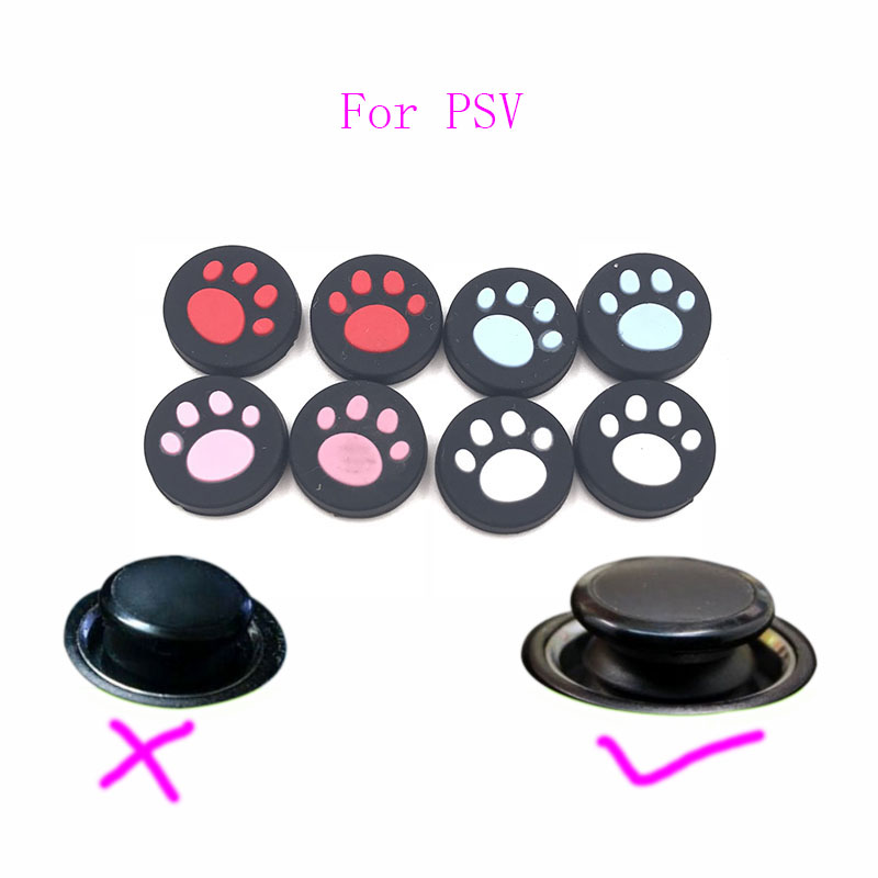 1Pair=2PCS Silicone Thumb Stick Grips Caps Analog Thumbstick For PS Vita PSV 2000 PSV 1000