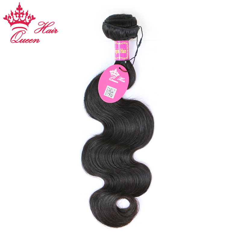 ФОТО Queen Hair Products Brazilian Virgin Human Hair Body Wave Bundles Weave Natural Color 10