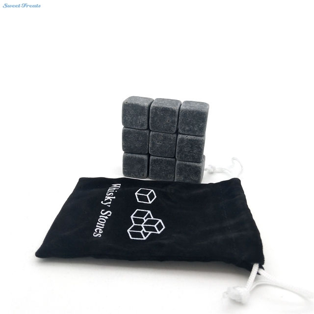 Reusable Ice Whiskey Chilling Stones