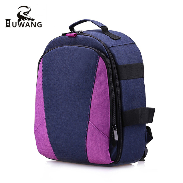 fe346aa23252 HUWANG Outdoor Photography Padded Camera Bag Travel Backpack with Tripod  Holder Laptop Pocket for Nikon Canon Sony DSLR Cameras. High Sierra Laptop  Backpack