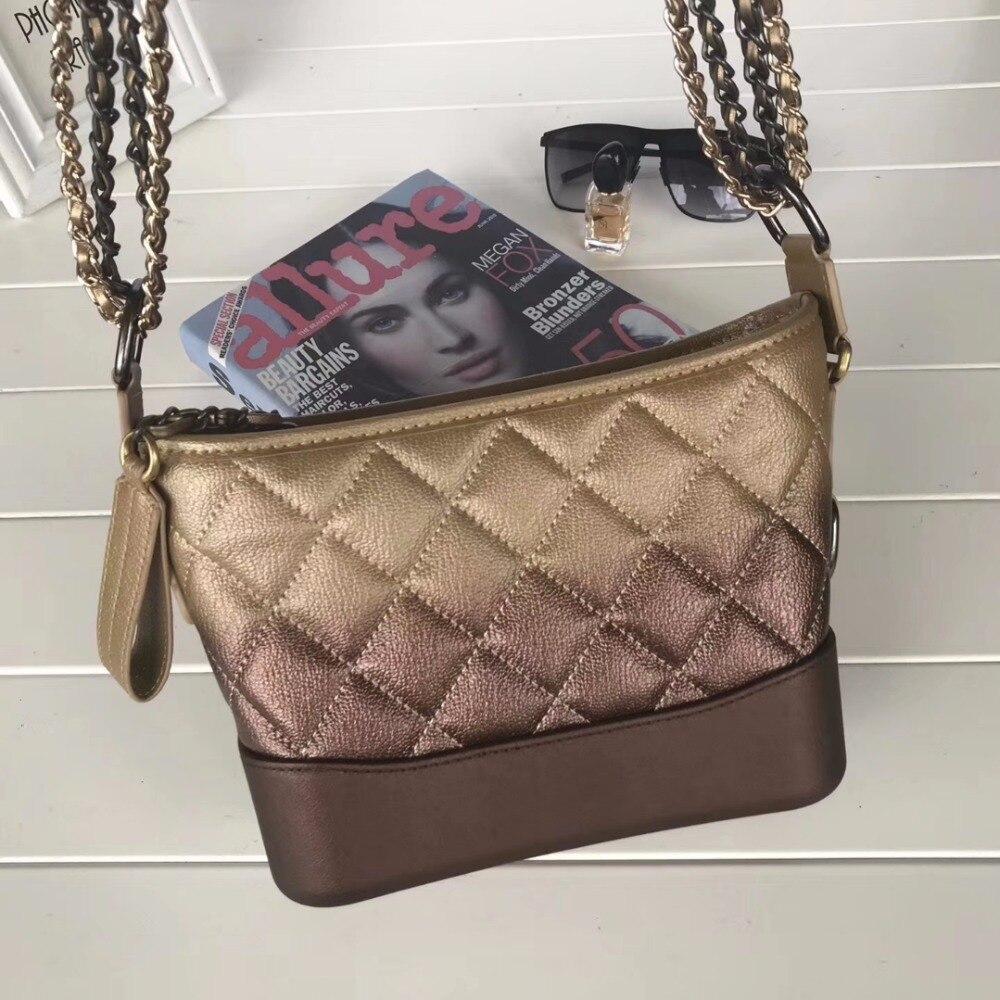 e34ed06debdd86 Classic Women Lambskin Genuine Leather chain crossbody bag Gabrielle ...
