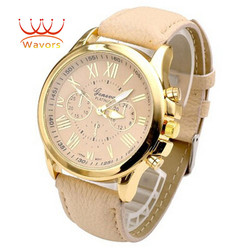 Wavors luxury brand women watch leather brand roman numerals big dial hour analog quartz wrist watches.jpg 250x250