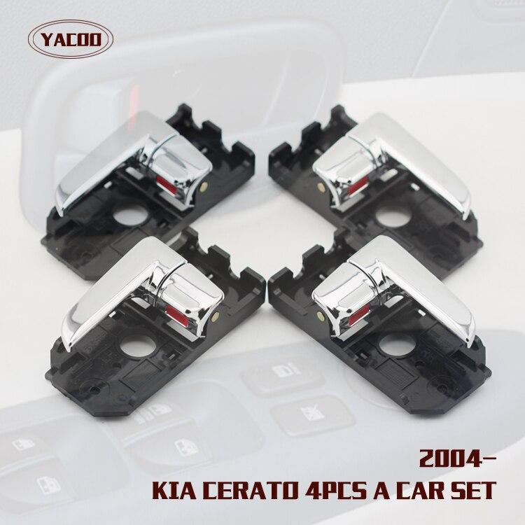 4PCS A CAR SET INTERIOR DOOR HANDLE FOR KIA CERATO OEM 82610 2F000 82620 2F000