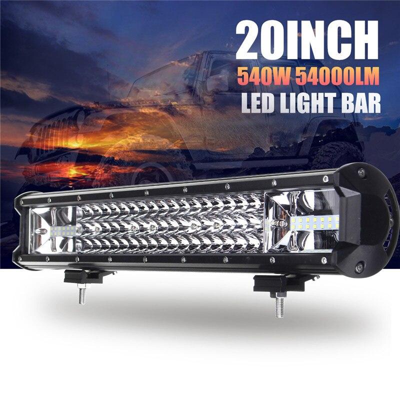 540W 20 Inch Led Light Bar Combo Spot Flood Beam LED Work Light For Driving Offroad Boat Car Tractor Truck 4x4 SUV ATV 12V 24V