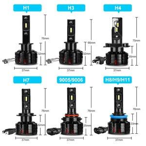 Image 5 - 2 Chiếc H1 H4 LED H7 Xi Nhan Canbus H11 H3 HB3 9005 HB4 9006 Đèn LED Xe Hơi Ô Tô Bóng Đèn Pha H7 Mini 10000LM 6000K Tự Động Đèn Pha LED 100W/55W 12V 24V