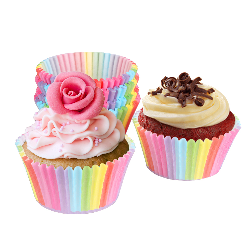 100PCS Colorful Baking Paper Cups Food Grade Cupcake Paper Liner for Cake Ball/Muffin/Egg Tart and Candy/for Kitchen Tool 0