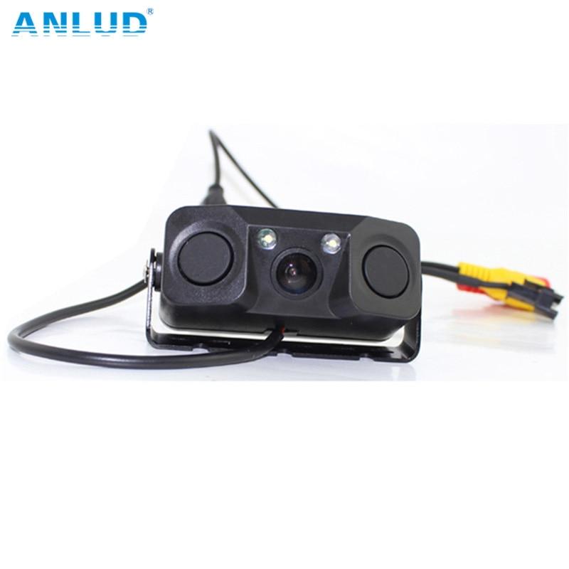 ANLUD PZ451 Sensores de estacionamiento 3 en 1 con cámara trasera - Electrónica del Automóvil