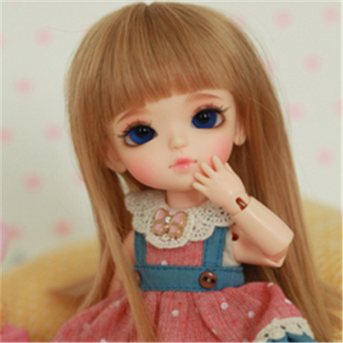 Bjd sd doll 1/8 doll lati yellow lumi free eyes 1 3 1 4 1 6 1 8 1 12 bjd wigs fashion light gray fur wig bjd sd short wig for diy dollfie