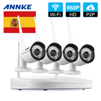 Clearance Sale For Spain ANNKE 4CH 960P CCTV System Wireless Powerful WIFI NVR IP Camera CCTV
