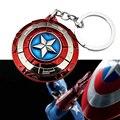 Новый 1 шт. Характер Капитан Америка Щит Фигурку игрушки Брелок Брелки Брелок Мстители Новый Marvel Super Hero игрушки
