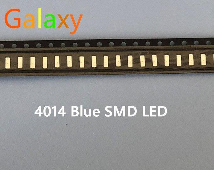 500 шт. высокое качество синий 0,2 Вт чип led 4014 smd led 460-475nm синий 4,0*1,4 мм чип светоизлучающий диод(CE& Rosh