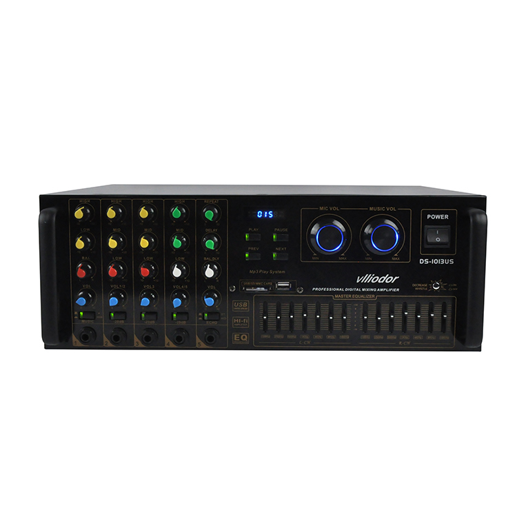 350w + 350w Hifi Home Theater Ktv Sound Amplifier Ds-1013ul A1943 / C5200 Power Tube Dual 7 Equalizer