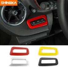 SHINEKA украшение интерьера автомобиля Наборы Heads Up Дисплей Управление Выключателей Крышки панель ободка фары Frame 6th Gen для Chevy Camaro 2017 +