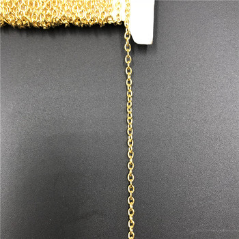 Iron Metal Chains Bulk Necklace Components Gold Silver Color Open Link Chain For Diy Jewelry Making 5