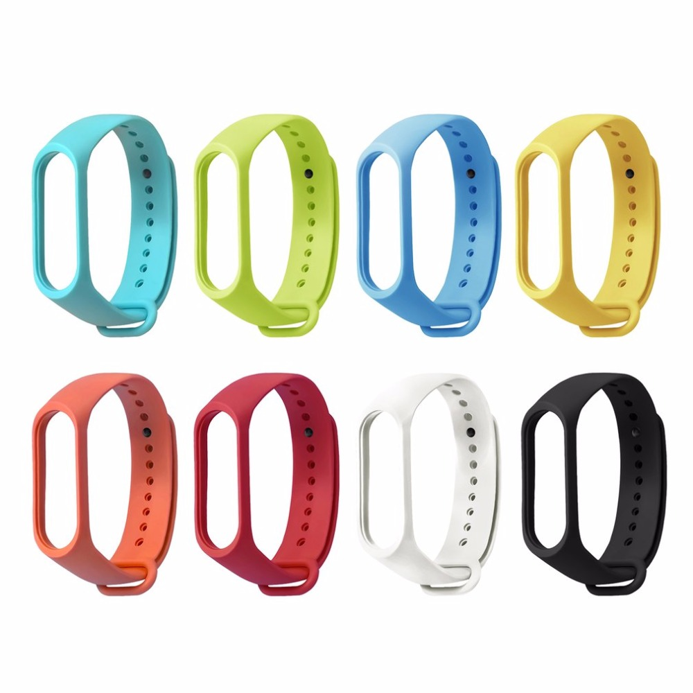 TPE Solid Color Wristband Wrist Strap Bracelet With Secure Faster Smart Accessories For Mi Band 3 Bracelet Replacement
