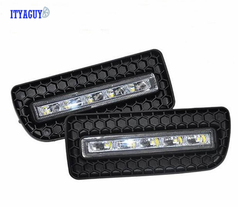 Car Stlying Daytime Running Light DRL For BMW E36 318i 320i 323i 325i 328i 1991-1999 2PCS 12V LED Fog Lamp Decoration hot cinderella princess castle city model building block kid educational brick toy for compatible lepins christmas children gift
