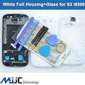 Nova tampa da caixa de quadro placa moldura + tampa porta exterior tela lente de vidro para Samsung Galalxy S3 i9300