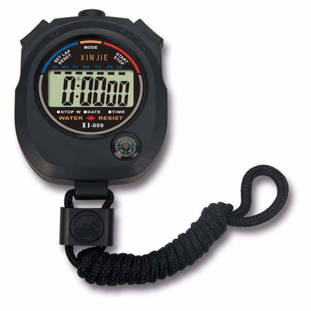 NEW Life Waterproof Digital LCD Stopwatch Chronograph Timer Counter Sports Alarm