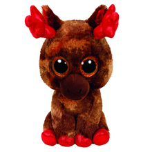 "Pyoopeo Ty Beanie Boos 6"" 15cm Maple Moose Canada Plush Regular Stuffed Animal Collectible Big Eyes Doll Toy(China)"