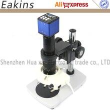 Buy 2.0MP Digital Industrial Microscope Camera set VGA outputs 1/3+180X C-Mount Lens+56 LED Ring light +Metal stand holder