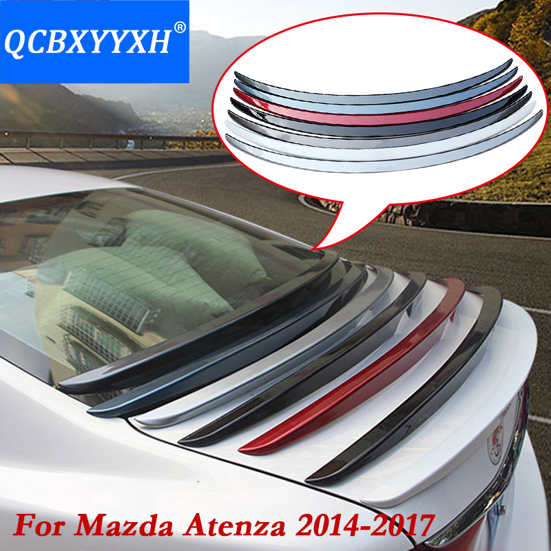 QCBXYYXH 1pc ABS Tail Rear Trunk Spoiler Wing Decoration Cove Car Accessories For Mazda 6 M6 ( Atenza ) 2014-2017 car styling rear wing trunk spoiler decorative cover for europe toyota camry 2012 2013 2014 2015 abs auto accessories
