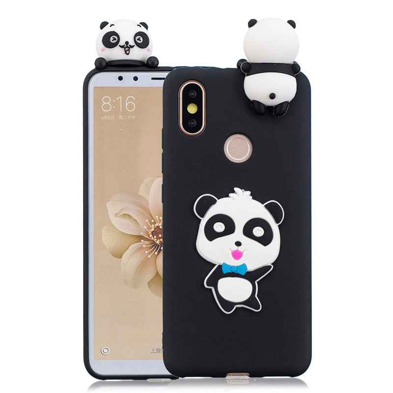 3D Soft Silicone TPU Case For Xiaomi Mi A1 A2 5X 6X Lovely Patterned Cartoon Cases For Redmi 4X S2 Y1 Redmi Note 5A Prime