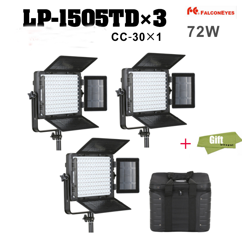 Falcon Eyes 150 LEDs Panel Photography Video Light 3000-8000K Continuous lighting Kit for Photo & Video LP-1505TD
