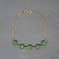 Vintage Solid 18kt Yellow Gold Natural Emerald Bracelet NA0020