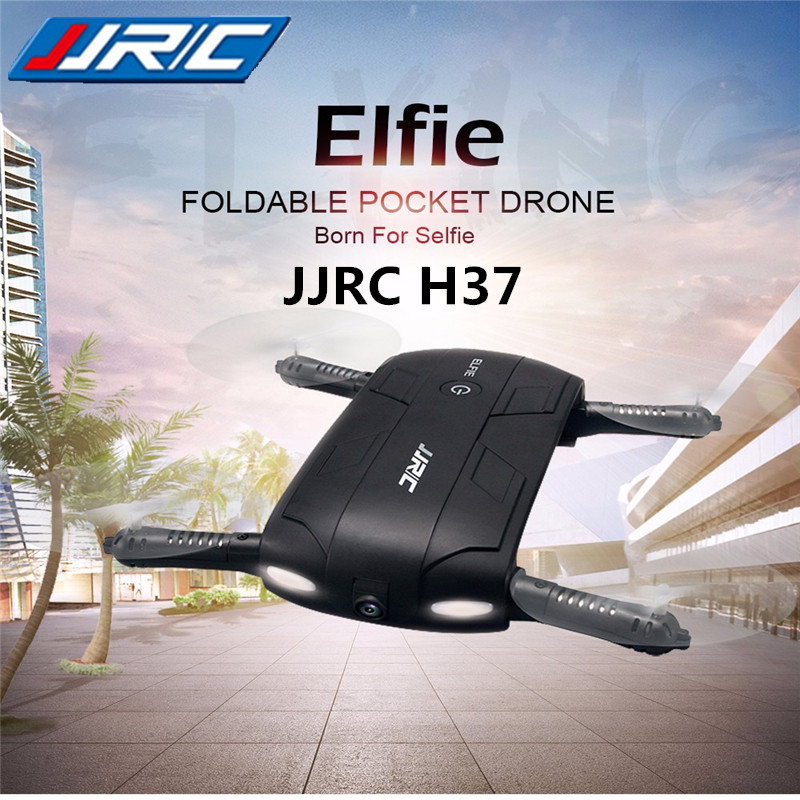 JJR/C JJRC H37 Elfie Pocket RC Dron Mini Drone With Camera HD Selfie Drones WiFi FPV Foldable Quadcopter Headless RC Helicopter