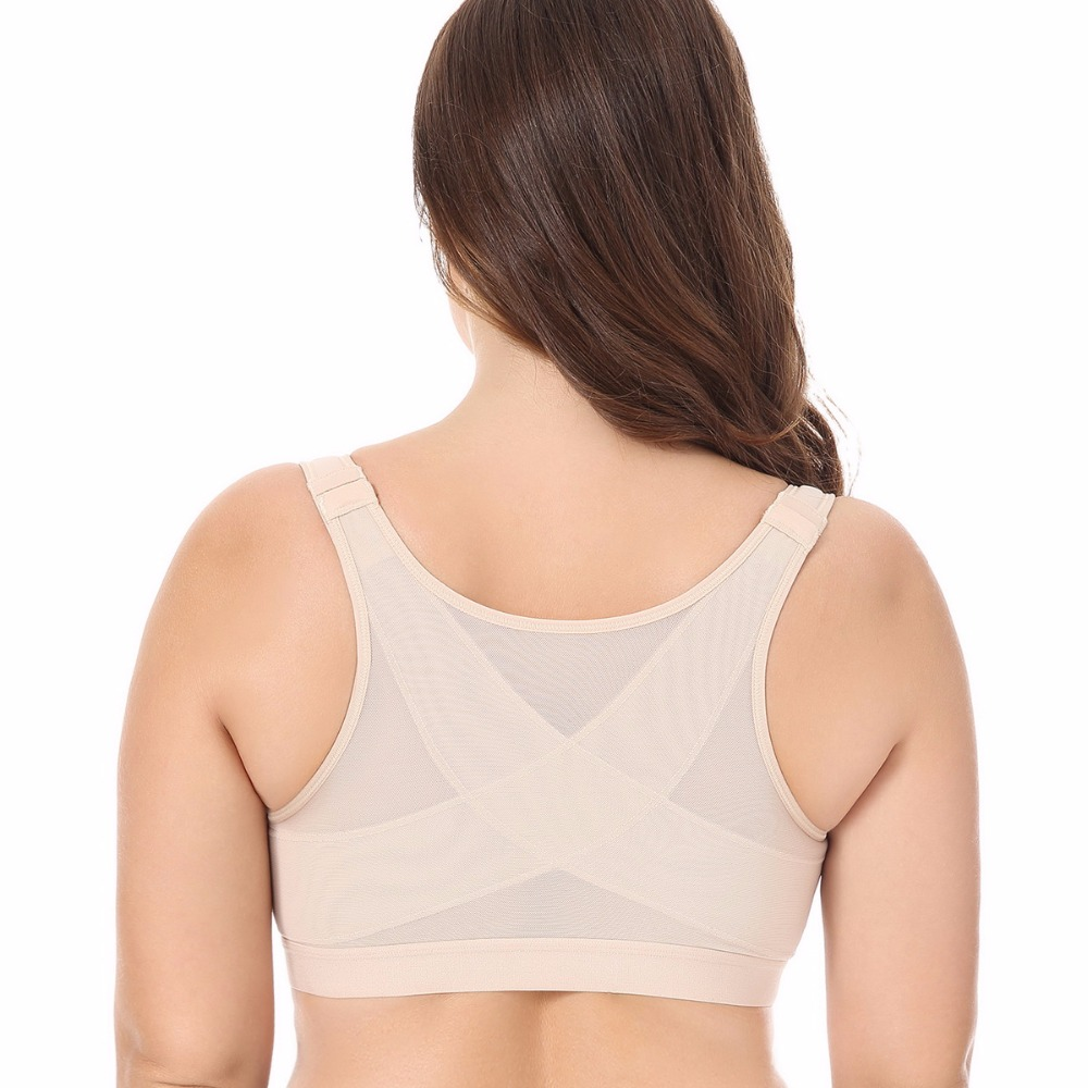 c367dbc4dcca8 34 36 38 40 B C D DD BAICLOTHING Women s Front Closure Full Coverage  Non-padded Underwear Back Support Posture Wire Fress Bra