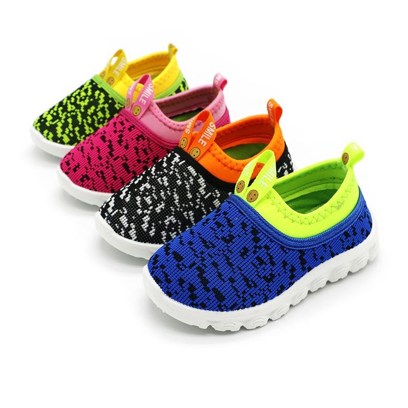 Best Price Kids Shoes Baby Boy Girl Shoes Candy Color Woven Fabric Air Mesh Children Casual Sneakers For Boys Girls