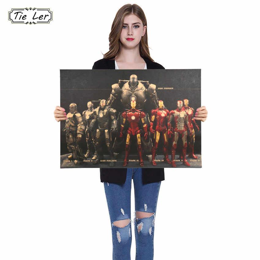 هوليوود الفيلم المشارك الزينة الصورة الرجل الحديدي بطل الطابع المشارك الحنين الرجعية كرافت ورقة ملصقات جدار 51X36 سنتيمتر