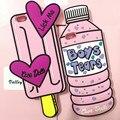 Novo Tumblr Verão Cartton Caso Rosa Meninos Lágrimas Gelo Lábio Creme sorvete soft case de silicone tampa traseira para o iphone 6 6 s 6 mais