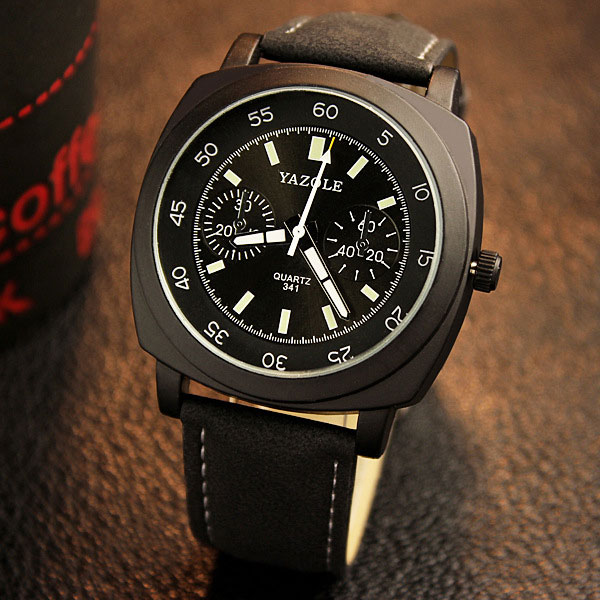 YAZOLE Wristwatch Sport Style Wrist Watch Men Top Brand Luxury Famous Male Clock Quartz Watch for