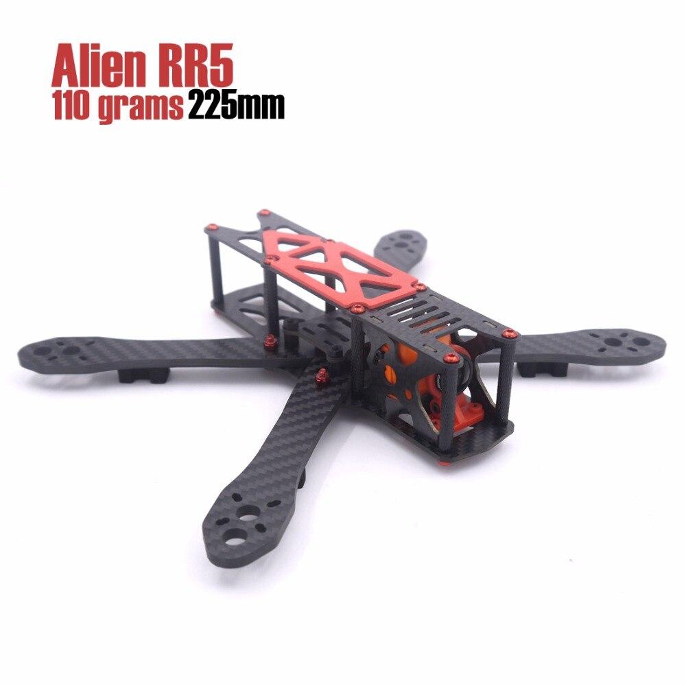 LEACO RC Alien RR5 5 pollice 225mm 110g di alluminio viti e dadi quadcopter drone kit telaio