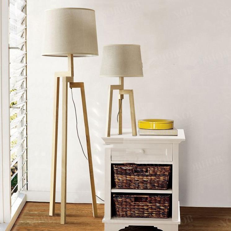 Nordic IKEA Fabric Floor Lamp Modern Minimalist Living Room Bedroom Timber  Wood Tripod Floor Lamps Den On Aliexpress.com | Alibaba Group